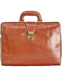 Patricia Nash - Men's Heritage Leather Slim Briefcase - Lyst