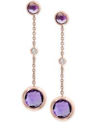 Effy Collection - Effy® Amethyst (2-5/8 Ct. T.w.) & Diamond Accent Drop Earrings In 14k Rose Gold - Lyst