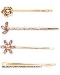 Lonna & Lilly 4-pc. Set Blush Gold-tone Hair Pins - Pink