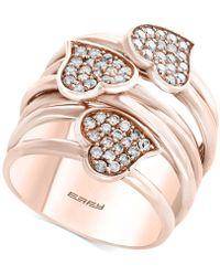 Effy Collection - Diamond Heart Wrap-style Ring (5/8 Ct. T.w.) In 14k Rose Gold - Lyst