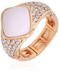 T Tahari Shell Chic Stretch Ring - Metallic