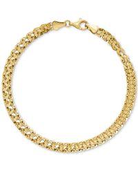 Macy's - Wide Fancy Link Bracelet In 14k Gold - Lyst