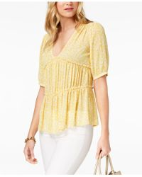 Michael Kors - Michael Collage Floral Top, Regular & Petite, Created For Macy's - Lyst