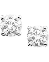 Macy's - Diamond Stud Earrings In 14k White Or 14k Gold (3/8 Ct. T.w.) - Lyst