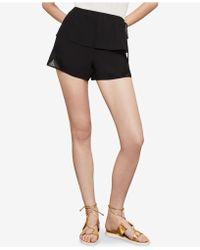 BCBGMAXAZRIA - Mixed-media Lace Shorts - Lyst