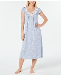 f39c829c7ce Charter Club - Flutter-sleeve Printed Soft Knit Nightgown