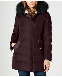 Vince Camuto Faux-fur-trim Hooded Down Puffer Coat - Multicolour