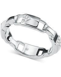 Michael Kors - Mercer Link Sterling Silver Padlock Ring - Lyst