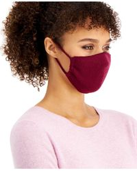 Charter Club Cashmere Ear Loop Facemask, Created For Macy's - Purple
