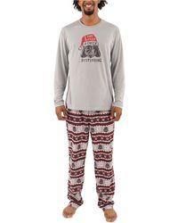 Munki Munki Holiday Darth Vader Family Pajama Set - Gray