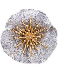 Giani Bernini - Two-tone Hibiscus Flower Statement Ring - Lyst