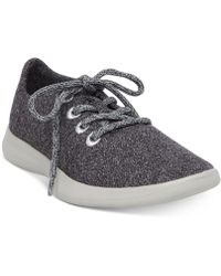 Steven by Steve Madden | Travler Lace Up Trainer Grey Fabric | Lyst