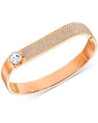 Swarovski - Crystal And Pavé Hinged Bangle Bracelet - Lyst