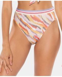 SOLUNA Over The Moon Printed High-waist Bikini Bottoms - Multicolour