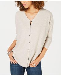 Style & Co. - Petite Button-front Thermal Top, Created For Macy's - Lyst