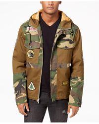 Reason - Men's Hooded Camo Navigator Jacket - Lyst
