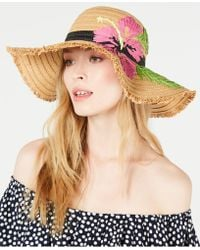Betsey Johnson - Tropical Hibiscus Floppy Hat - Lyst