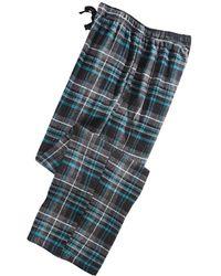 Perry Ellis Large-plaid Flannel Pajama Pants - Multicolor