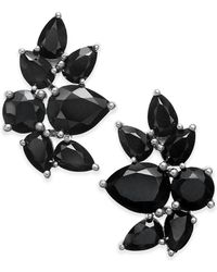 Macy's - Black Sapphire Fancy Stud Earrings (10 Ct. T.w.) In Sterling Silver - Lyst