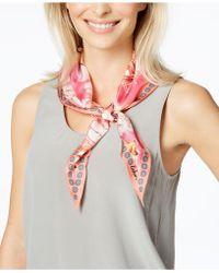 Echo - Seaside Floral Silk Diamond Bandana Scarf - Lyst