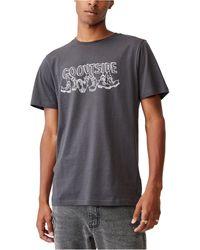 Cotton On Graphic Art T-shirt - Grey