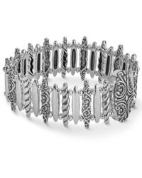 Carolyn Pollack - Bar Link Magnetic Bracelet In Sterling Silver - Lyst
