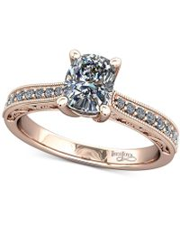 Macy's | Diamond Filigree Mount Setting (1/6 Ct. T.w.) In 14k Rose Gold | Lyst