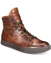 Kenneth Cole Reaction - Double Header High-top Sneakers - Lyst