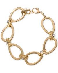 Laundry by Shelli Segal - Gold-tone Crystal Teardrop Link Bracelet - Lyst