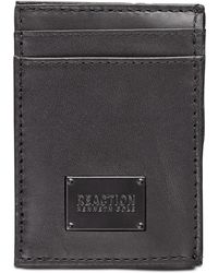 Kenneth Cole Reaction Front Pocket Leather Wallet - Black