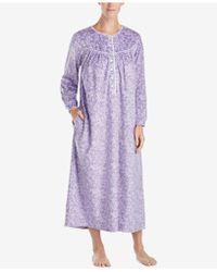 Lanz of Salzburg - Ballet Lace-trim Fleece Nightgown - Lyst