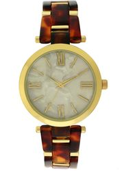INC International Concepts - Gold-tone & Tortoise-look Bracelet Watch 24mm, Created For Macy's - Lyst
