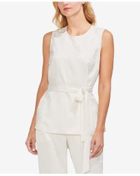 Vince Camuto - Tonal-print Belted Top - Lyst
