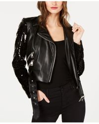 INC International Concepts - I.n.c. Sequined Faux-leather Moto Jacket, Created For Macy's - Lyst
