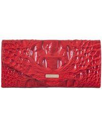 Brahmin Veronica Melbourne Embossed Leather Wallet - Red