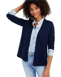 Charter Club Cashmere Open-front Cardigan, Regular & Petite Sizes, Created For Macy's - Blue
