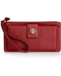 Giani Bernini Softy Medium Grab & Go Wallet - Red