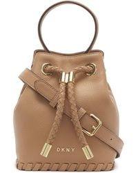 DKNY Leather Winnie Small Bucket - Multicolor