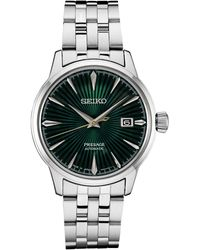 Seiko Automatic Presage Stainless Steel Bracelet Watch 40mm - Green