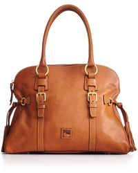 Dooney & Bourke Handbag, Florentine Domed Buckle Satchel - Natural