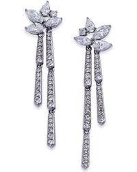 Danori - Silver-tone Marquise Cluster Dangle Drop Earrings - Lyst