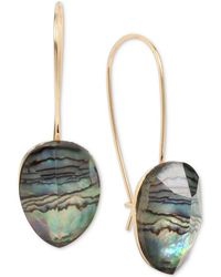 Robert Lee Morris | Gold-tone Abalone Stone Drop Earrings | Lyst