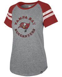 47 Brand Tampa Bay Buccaneers Flyout Raglan T-shirt - Gray