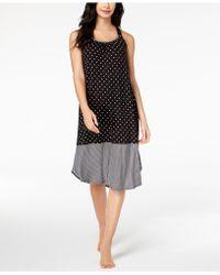 DKNY - Contrast-hem Printed Nightgown - Lyst