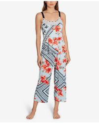 Linea Donatella Marabel Patch Cropped Pajama Set - Blue