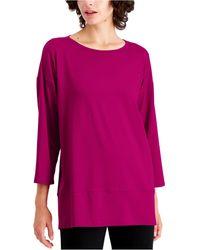 Eileen Fisher Layered-hem Tunic - Multicolor