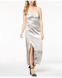 Bardot - Strapless Metallic Maxi Dress - Lyst