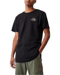 Cotton On Longline Scoop T-shirt - Black