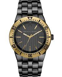 Sean John - Men's Black Diamond Collection Diamond Accent Gunmetal Bracelet Watch 48mm 10030889 - Lyst