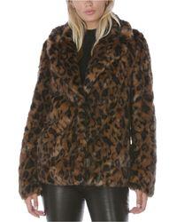 Tahari Leopard-print Faux-fur Coat, Created For Macy's - Brown